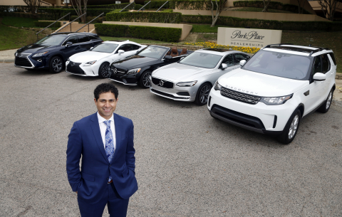 Hesham Elgahil, VP of Strategic Growth at Park Place Dealerships, with vehicles offered in the subscription service, Park Place Select. (Photo: Business Wire)