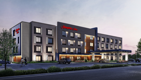 Exterior rendering of the new Hampton by Hilton prototype (Photo: Business Wire)