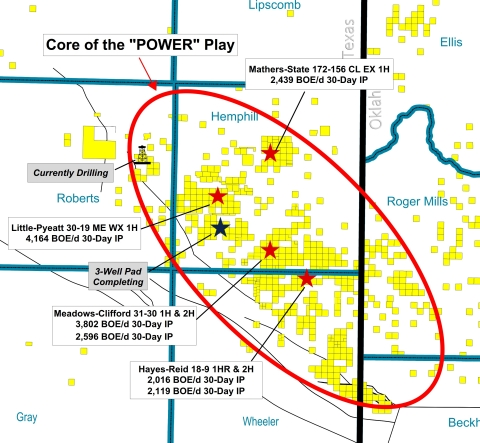 The aerial extent of Tecolote's 210,000 net acres and the core of the 'POWER' play. (Graphic: Business Wire)