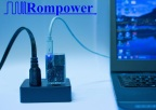 The new Rompower's laptop adapter, same size as an AC power plug (Photo: Business Wire)