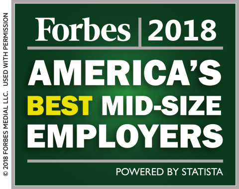 "Vivint is one of 500 midsize companies to make the 2018 Forbes list of ""America's Best Employers."" (Graphic: Business Wire)"