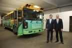 Phil Horlock, President & CEO of Blue Bird, is pictured with John Corrado, President & CEO of Suffolk Transportation Service (Photo: Business Wire)