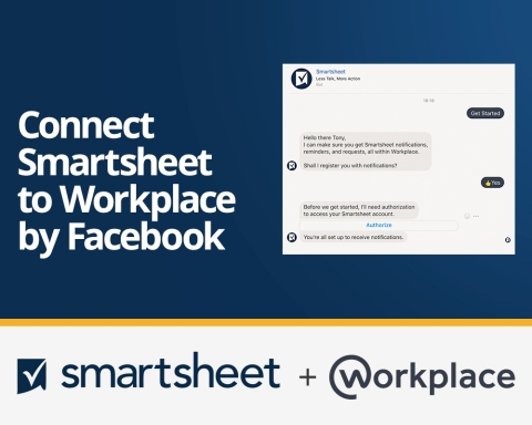 Smartsheet announces an integration with Workplace by Facebook. (Photo: Business Wire)