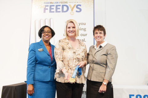 """Stephen Sanchez, Food Lion store associate, Fayetteville, N.C., wins The """"Lion's Pride"""" Award at Food Lion Feeds' third annual """"The Feedy's"""" awards. The """"Lion's Pride"""" award recognizes a Food Lion associate that demonstrates outstanding skills in coordinating and motivating associates and volunteers for hunger-relief projects for the benefit of Food Lion Feeds and its partner food banks. (Photo: Business Wire)"""