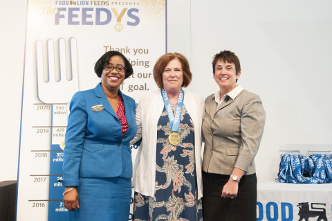 """Feeding America Southwest Va. From Salem, Va. wins The """"Food King"""" Award at Food Lion Feeds' third annual """"The Feedy's"""" awards. The """"Food King"""" award honors a food bank that demonstrates an outstanding commitment to ending hunger through financial support, innovation, encouragement and by motivating others to take leadership roles in hunger-relief programs and community involvement. (Photo: Business Wire)"""