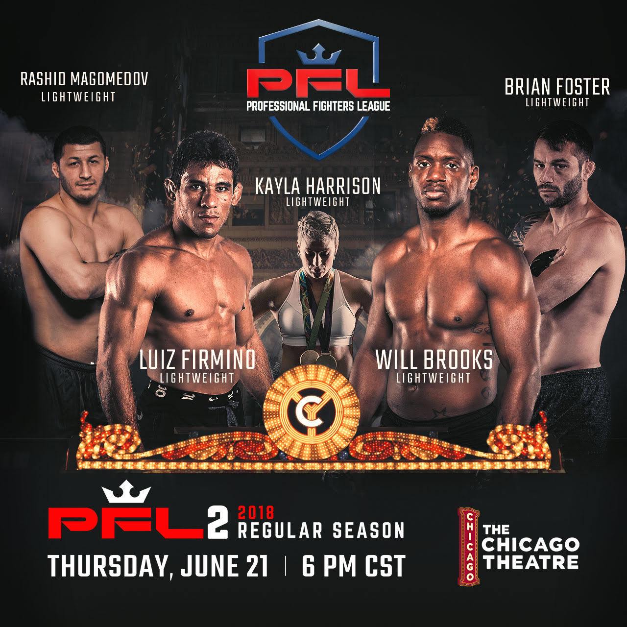 Professional Fighters League (PFL) Announces Full Fight Card And