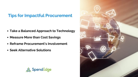 Tips for impactful procurement. (Graphic: Business Wire)