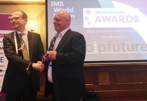 Voipfuture gewinnt Auszeichnung für innovativste VoLTE-Lösung auf dem IMS World Forum 2018 (Photo: Business Wire)