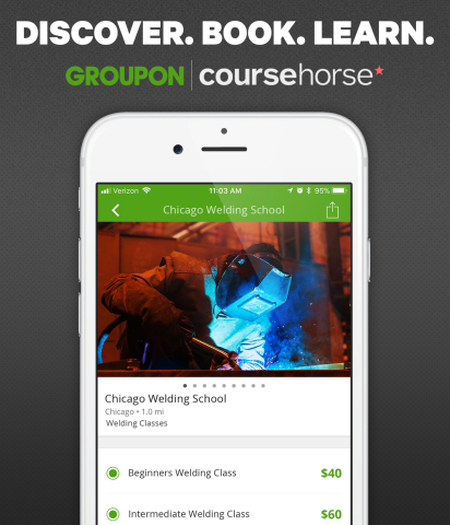 Thousands of bookable local classes for welding, pottery, floral design and more will be available for purchase through Groupon's marketplace. (Photo: Business Wire)