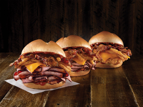 The Bourbon BBQ Sandwich lineup returns with a new crispy buttermilk chicken option to go along with brisket that has been hickory-smoked for 13-hours and USDA-choice Angus steak. (Photo: Business Wire)