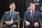 (L-R) Altice USA Chairman and CEO Dexter Goei and U.S. Senator Richard Blumenthal (Photo: Business Wire)