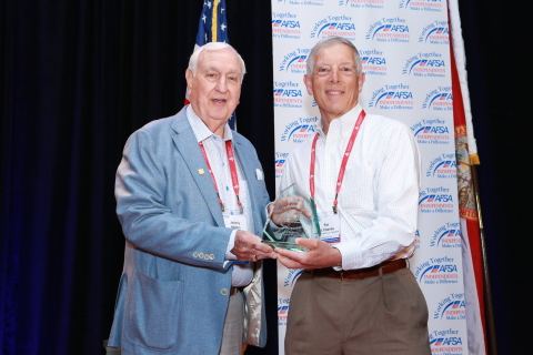 Mr. Patrick St. Charles, III (right) receiving the 2018 AFSA Outstanding Independent Award from 1995 recipient John W. Holden (left).(Photo: Business Wire)