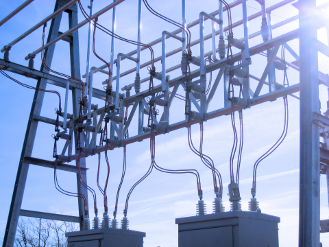 Electric high voltage substation. (Photo: Business Wire)