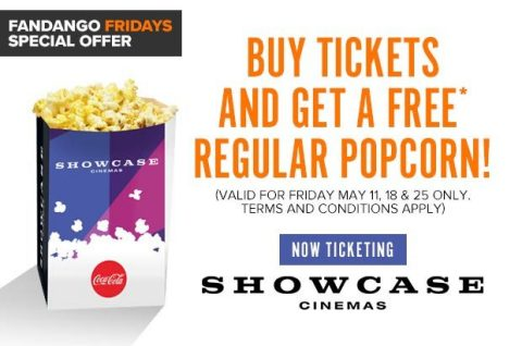 Buy Tickets and Get a Free Regular Popcorn! (Graphic: Business Wire)