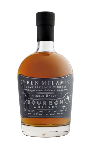 Ben Milam Whiskey's Single Barrel Bourbon Wins back-to-back Double Gold at the San Francisco World Spirits Competition. (Photo: Business Wire)