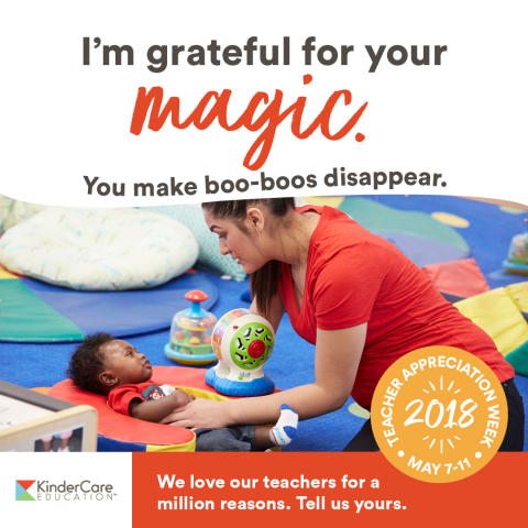 This week is national Teacher Appreciation Week and KinderCare Education (KCE), the nation's largest private provider of early childhood education and care, has more than 27,600 reasons to celebrate as they honor and thank each of their teachers for the powerful bond they create with their students. (Photo: Business Wire)