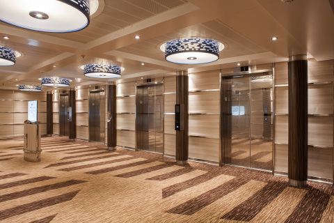 Schindler's PORT Technology on Carnival Horizon (Photo: Business Wire)