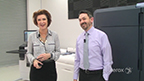 Demo of the Xerox Iridesse Production Press: Mary Roddy, Worldwide Marketing Product Manager for Xerox, and Charles Dickinson, Worldwide Product Manager for Xerox, walk through the Xerox Iridesse Production Press' capabilities via a press demonstration.
