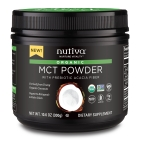 Nutiva®, pioneer of plant-based organic superfoods that nurture vitality, today announced the launch of the world's first USDA Certified Organic MCT Powder, or NuMCT™, a supplement uniquely crafted from 100 percent young organic coconuts and gut-supportive prebiotic acacia. (Photo: Business Wire)