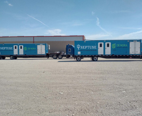 ClorTec® mobile disinfection trailer in the Permian Basin (Photo: Business Wire)