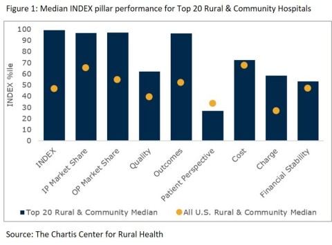 Top Rural & Community Hospitals Outperform Peers in Quality and Outcomes but Improvement Needed in Patient Perspective (Graphic: Business Wire)