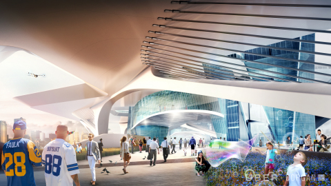 The heart of the Skyport, the Station is not only a concourse that serves the Uber Elevate operations, but also a community destination offering an array of amenities. The Station will also have the adaptability to house community gatherings such as art shows, farmer's markets and performance events. (Photo: Business Wire)