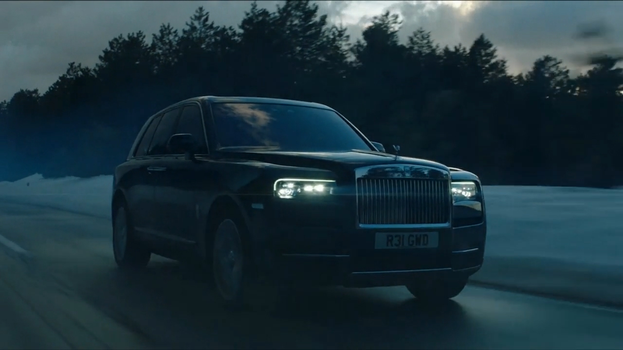 A full suite of video assets for the Rolls-Royce Cullinan: full exterior static and dynamic with interior shots, off-road trials video in Sweden, Scotland, UAW and Austria, Roll-Royce Cullinan Reveal moment, CEO standup soundbites.