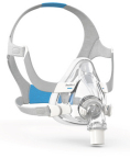 ResMed AirFit F20 full face CPAP mask, with QuietAir diffuser vent elbow (Photo: Business Wire)