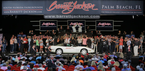 "Barrett-Jackson, The World's Greatest Collector Car Auctions®, will accelerate its ""Driven Hearts"" campaign, the company's first-ever yearlong charity initiative to help raise funds and bring awareness to heart disease and stroke, during the 2018 Northeast Auction. (Photo: Business Wire)"