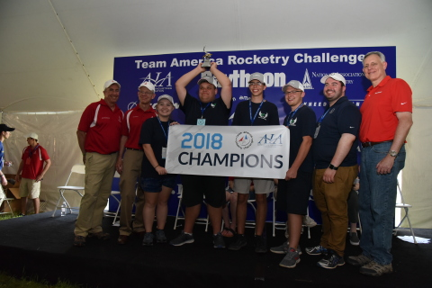 Congratulations to the 2018 Team America Rocketry Challenge Champions, Creekview High School of Canton, Ga. (Photo credit: AIA/Renee Bouchard)