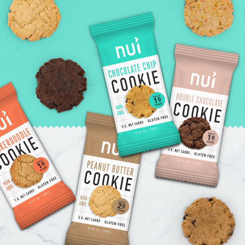 Formerly known as Keto Kookie, Nui Foods offers the same great tasting low carb, low sugar, and gluten free cookie that fans have grown to love, only now with a new name (Photo: Business Wire)