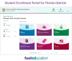 Fuel Education's Student Enrollment Portal for Florida School Districts (Graphic: Business Wire)