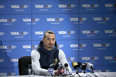 International football star Zlatan Ibrahimović announces his return with Visa to the 2018 FIFA World Cup Russia™ (Photo: Business Wire)