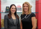 Justine Glatter and Barb Huelskamp, 2018 CRN Women of the Channel (Photo: Business Wire)