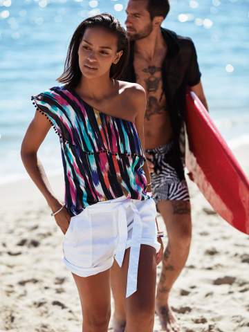 Channel the breezy yet adventurous gypset feel of the season with the Trina Turk x I.N.C. and Mr. Tu ...