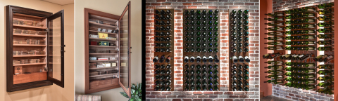 Vigilant's newest products: the built-in Wall Cigar Humidors and Wine Walls. (Photo: Business Wire)