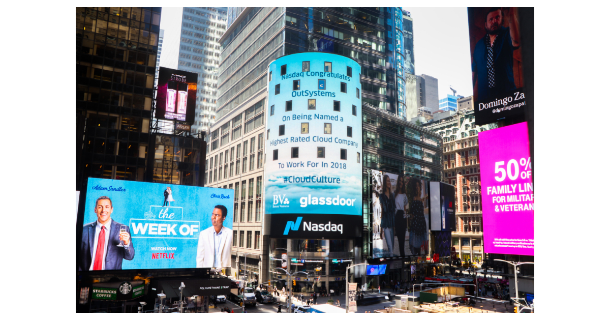 Battery Ventures and Glassdoor Name OutSystems a Top Cloud
