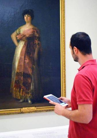 The Real Academia de Bellas Artes de San Fernando museum in Madrid, Spain, is using Aruba Wi-Fi and Mobile Engagement to enhance the visitor experience. (Photo: Business Wire)