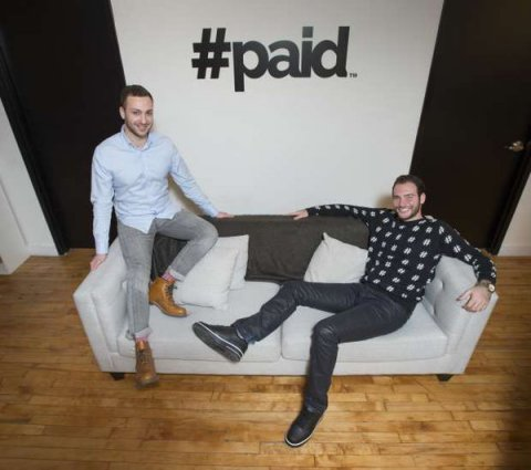 Bryan Gold, Co-Founder & CEO and Adam Rivietz, Co-Founder & CSO at #paid New York HQ (Photo: Business Wire)