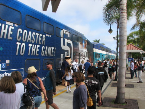 Clear Channel Outdoor's existing suite of outdoor media in San Diego includes the North County Transit District's Coaster. (Photo: Business Wire)