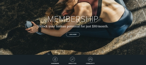 WHOOP Membership: Unlock Your Human Potential (Photo: Business Wire)