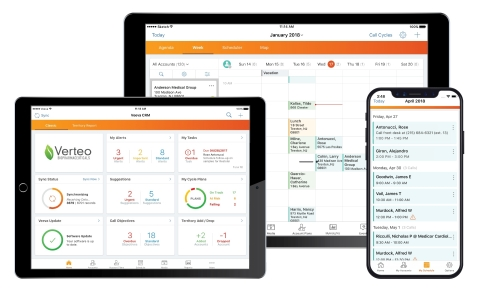 New real-time architecture and Sunrise UI in Veeva CRM deliver the right information at the right time to the field across all devices. (Photo: Business Wire)
