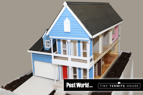 The Tiny Termite House, a mini dream home constructed by the NPMA, was used to tell the important story of what termites could be doing behind your walls. (Photo: Business Wire)