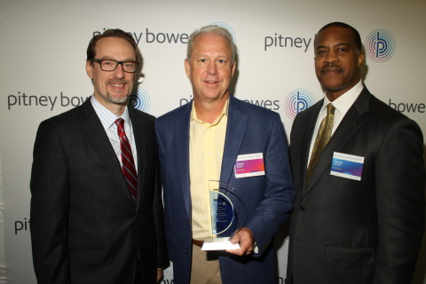 Grant Miller, President, Pitney Bowes DMT; David Wootton, Vice President, Business Process, Broadridge Financial Solutions; Jerry Carpenter, VP of Sales & Client Services, Pitney Bowes Presort Services (Photo: Business Wire)
