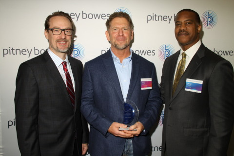 Grant Miller, President, Pitney Bowes DMT; Henry Lenden, Director of Operations, Renkim Corporation; Jerry Carpenter, VP of Sales & Client Services, Pitney Bowes Presort Services (Photo: Business Wire)