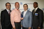 Grant Miller, President, Pitney Bowes DMT; Jason Gaskey, VP Operations, Fiserv Output Solutions; Adam Appleby, Chief Operating Officer, Fiserv Output Solutions; Jerry Carpenter, VP of Sales & Client Services, Pitney Bowes Presort Services (Photo: Business Wire)