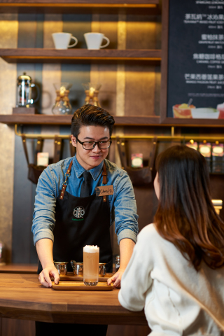 The Starbucks Discovery Journey is brought to life in China by locally-curated store experiences. Starbucks China announced it expects to more than triple revenue and more than double operating income through this elevated third-place experience, digital relationships and the extended reach of Channel Development. (Photo: Business Wire)