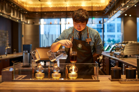 Through the company's purpose-driven growth agenda in China, Starbucks is focused on enhancing its immersive, coffee-forward approach to elevating the third place with plans to double store count to 6,000 across 230 cities by end of FY2022.(Photo: Business Wire)