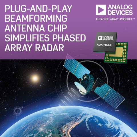 Analog Devices' Plug-and-Play Antenna Chip Simplifies Phased Array Radar for Avionics and Communications Equipment Designers (Graphic: Business Wire)