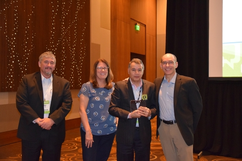 Trends & Technologies, Inc. accepts Aspect Software's 2017 Worldwide Partner of the Year award. (Photo: Business Wire)